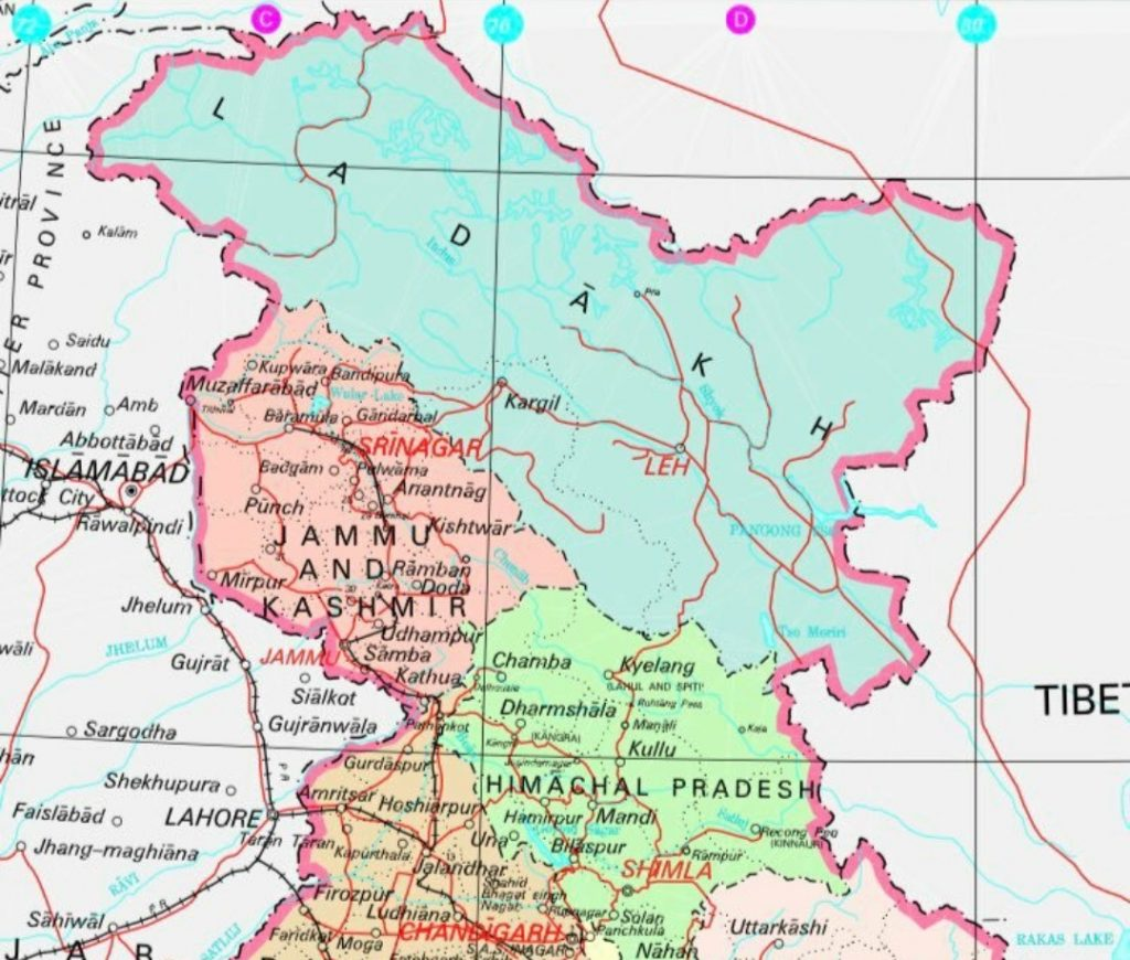 To save religious places of Hindus in Kashmir, aim of J&K ...  Jammu And Kashmir World Map